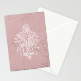 Blush pink mandala Stationery Cards