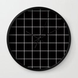 Citymap Grid - Black/White Wall Clock