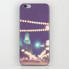 Sparkle No.2. downtown Los Angeles at night photograph iPhone & iPod Skin