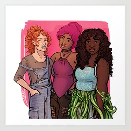 Danae, Evelyn & Rose Art Print