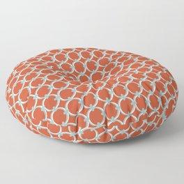 Classic Circles Orange and Teal Floor Pillow