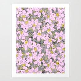 African Flowers pattern Art Print