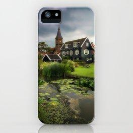 Canal View of Pretty Dutch Village, Marken iPhone Case