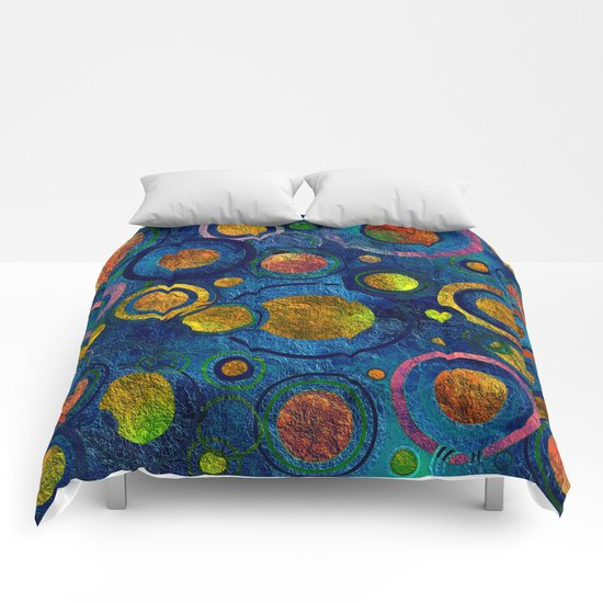 Full of Golden Dots - color variation Comforters