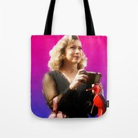river song Tote Bags featuring Doctor Song by Taylor Bookout