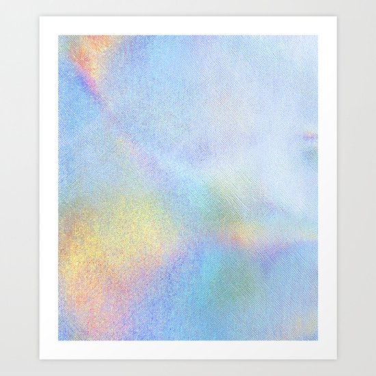 Holographic Iridescence Art Print