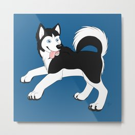 Husky (Black and White) Metal Print