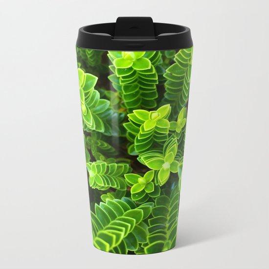 Green plant Metal Travel Mug