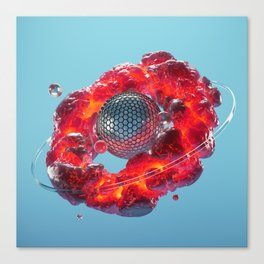 Lava Ring Canvas Print