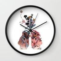 lungs Wall Clocks featuring Lungs by La Scarlatte