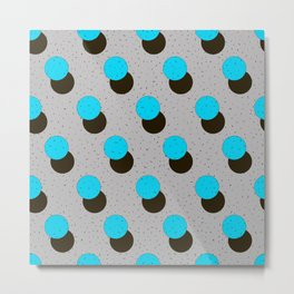 blue circles on a grey background Metal Print