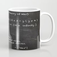 lebron Mugs featuring The Mathematical Theory of war by SaintCastro