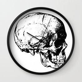 Skull Profile Wall Clock