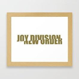 80s music / band logo art / JD/NO Framed Art Print