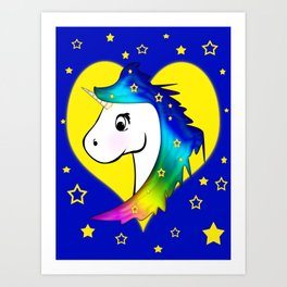 Good Night Unicorn Art Print
