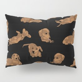 Short Haired Dachshund Pattern Pillow Sham