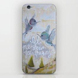 heavenly hummingbirds iPhone Skin