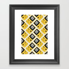 Gameboy Color: Yellow (Pattern) Framed Art Print