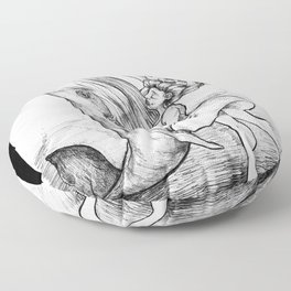 Dancing with Whales Floor Pillow
