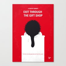 No130 My Exit Through the Gift Shop minimal movie poster Canvas Print