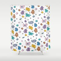 kittens Shower Curtains featuring Kittens by Plushedelica