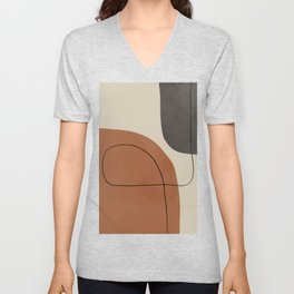 Modern Abstract Shapes #1 Unisex V-Neck