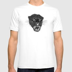 Panther Mens Fitted Tee MEDIUM White