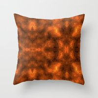 gold foil Throw Pillows featuring Gold Foil Texture 6 by Robin Curtiss