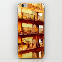 Living in old harbour stores iPhone Skin