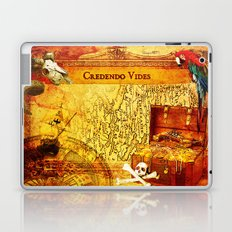 Credendo Vides Old Pirate Map Laptop & iPad Skin