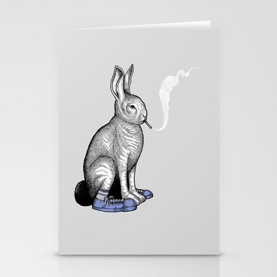 Carrot smoke trick Stationery Cards