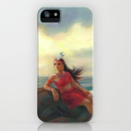 Pocahontas And The Ocean Of Love iPhone Case
