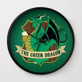 The Green Dragon Pub Wall Clock