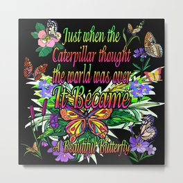 A Beautiful Butterfly Metal Print