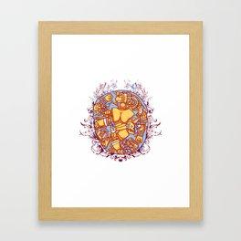 Inca design - Mayan Pinup Simbols Framed Art Print