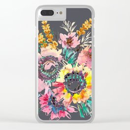 Meadow Bouquet Clear iPhone Case