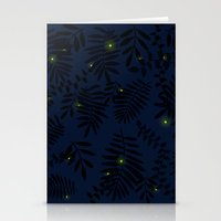fireflies Stationery Cards featuring Fireflies by Helena's universe