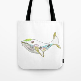 Spring Whale Tote Bag