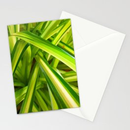 Spider Plant Leaves Stationery Cards