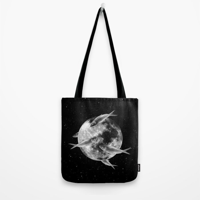 fish thank with floathing moon Tote Bag