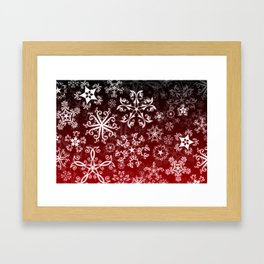 Symbols in Snowflakes on Holly Berry Framed Art Print