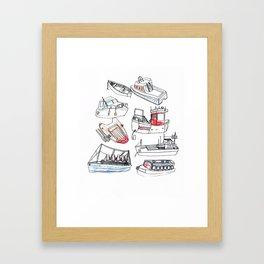 Boat Print Framed Art Print