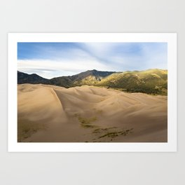 Great Sand Dunes Framed by the Sangre de Cristo Mountains Art Print