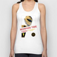 power rangers Tank Tops featuring NES Power Rangers by IF ONLY