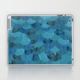 Blue Mermaid Scales Laptop & iPad Skin