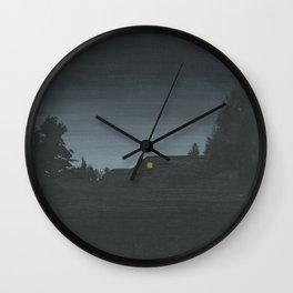 Wood Walk Ln. Wall Clock