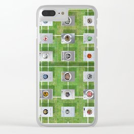Tennis Court 01 Clear iPhone Case