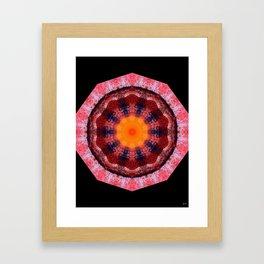 Kaleidoscope Red Framed Art Print