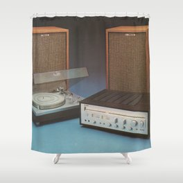 Vintage Speakers 1 Shower Curtain
