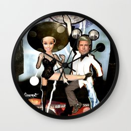 COLLAGE: Disco Wall Clock